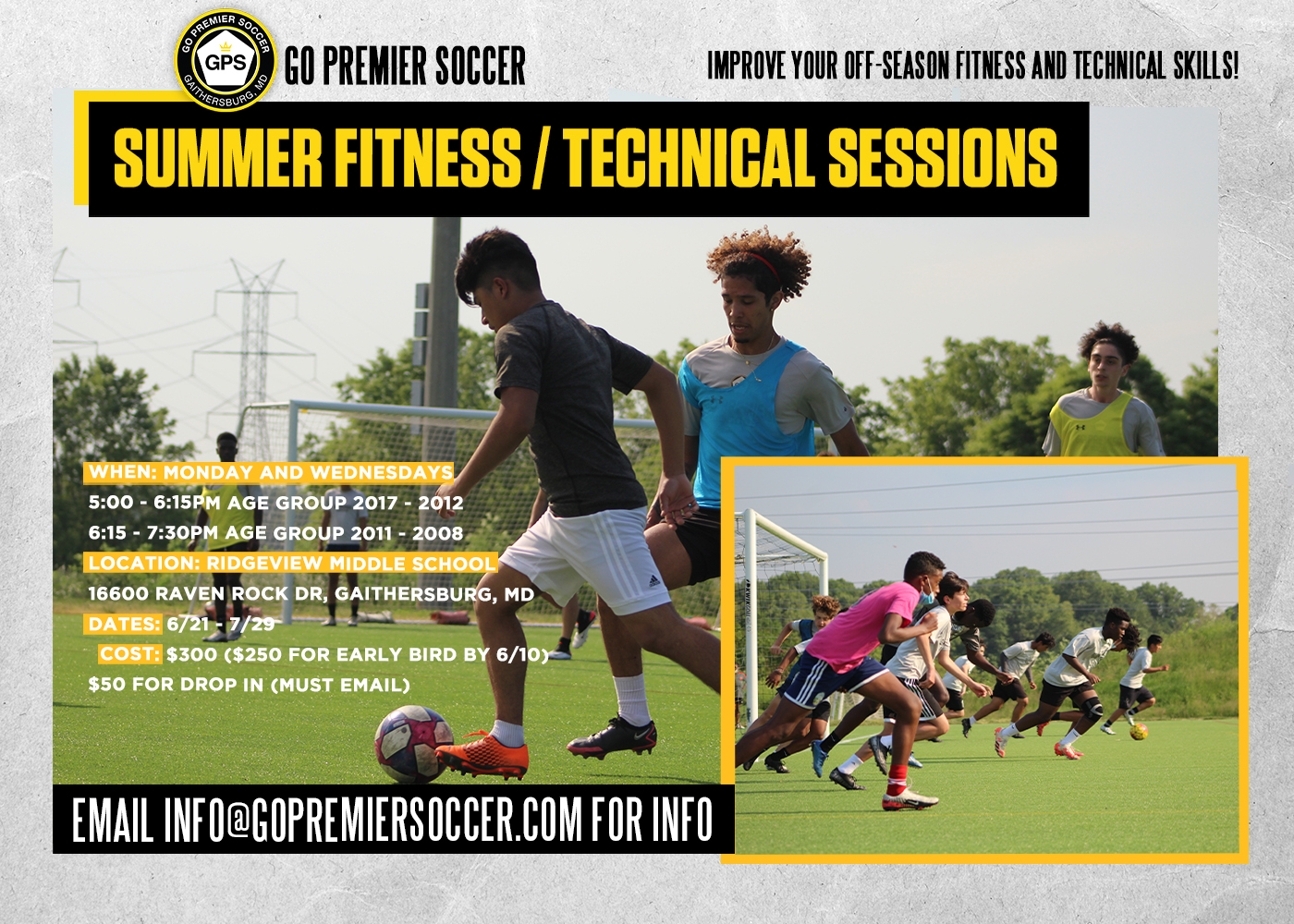 Summer Fitness & Technical Sessions